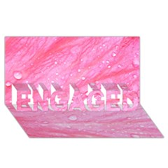 Pink Engaged 3d Greeting Card (8x4)