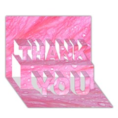 Pink THANK YOU 3D Greeting Card (7x5)