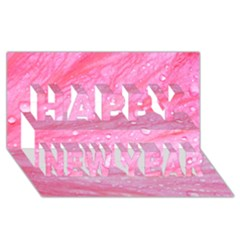 Pink Happy New Year 3D Greeting Card (8x4)