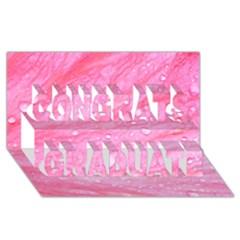 Pink Congrats Graduate 3D Greeting Card (8x4)
