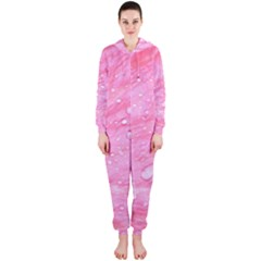 Pink Hooded Jumpsuit (Ladies)