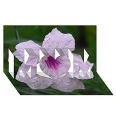 Pink Purple Flowers Mom 3d Greeting Card (8x4)
