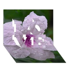 Pink Purple Flowers Love 3d Greeting Card (7x5)