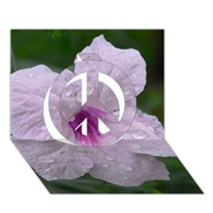 Pink Purple Flowers Peace Sign 3D Greeting Card (7x5)