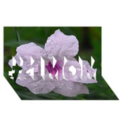 Pink Purple Flowers #1 MOM 3D Greeting Cards (8x4)