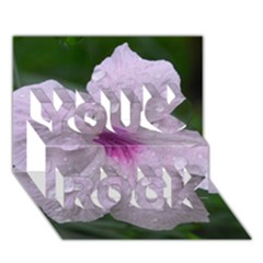 Pink Purple Flowers You Rock 3D Greeting Card (7x5)