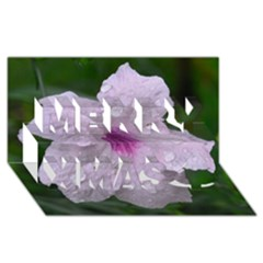 Pink Purple Flowers Merry Xmas 3D Greeting Card (8x4)