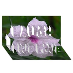 Pink Purple Flowers Laugh Live Love 3d Greeting Card (8x4)