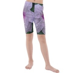 Pink Purple Flowers Kid s swimwear