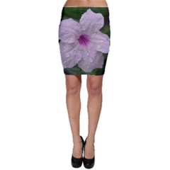 Pink Purple Flowers Bodycon Skirts