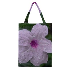 Pink Purple Flowers Classic Tote Bags