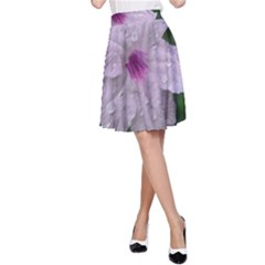 Pink Purple Flowers A-Line Skirts