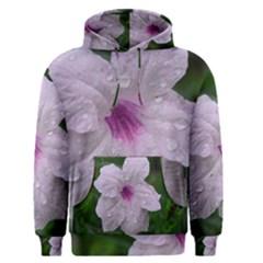 Pink Purple Flowers Men s Pullover Hoodies