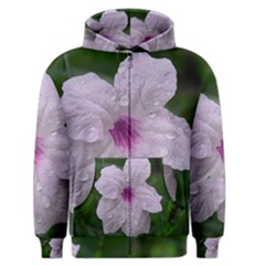 Pink Purple Flowers Men s Zipper Hoodies