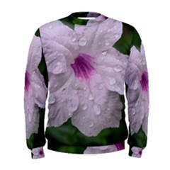 Pink Purple Flowers Men s Sweatshirts