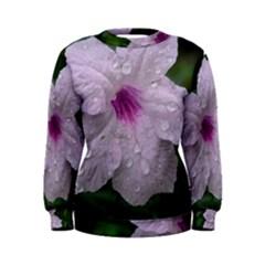 Pink Purple Flowers Women s Sweatshirts