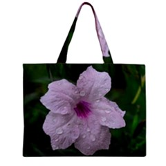 Pink Purple Flowers Zipper Tiny Tote Bags