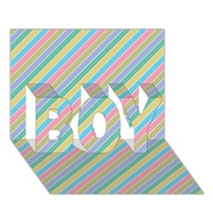 Stripes 2015 0401 BOY 3D Greeting Card (7x5)
