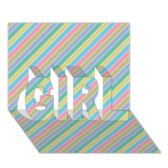 Stripes 2015 0401 GIRL 3D Greeting Card (7x5)