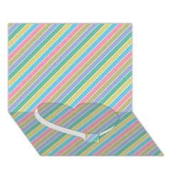 Stripes 2015 0401 Heart Bottom 3D Greeting Card (7x5)