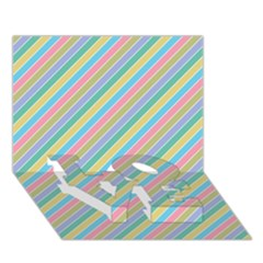 Stripes 2015 0401 Love Bottom 3d Greeting Card (7x5)