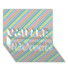 Stripes 2015 0401 You Are Invited 3d Greeting Card (7x5)