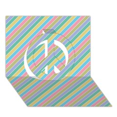 Stripes 2015 0401 Peace Sign 3D Greeting Card (7x5)
