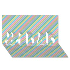 Stripes 2015 0401 #1 Dad 3d Greeting Card (8x4)