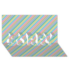 Stripes 2015 0401 Sorry 3d Greeting Card (8x4)