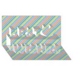 Stripes 2015 0401 Best Wish 3d Greeting Card (8x4)