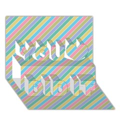 Stripes 2015 0401 You Did It 3d Greeting Card (7x5)