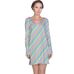 Stripes 2015 0401 Long Sleeve Nightdresses