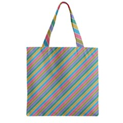 Stripes 2015 0401 Zipper Grocery Tote Bags