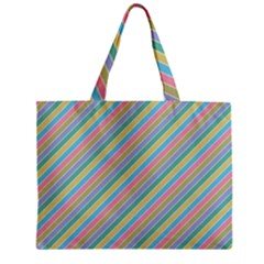 Stripes 2015 0401 Zipper Tiny Tote Bags