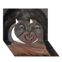 Menschen - Interesting Species! Heart 3D Greeting Card (7x5)