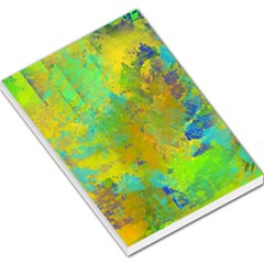 Abstract in Blue, Green, Copper, and Gold Large Memo Pads