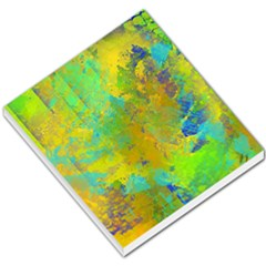 Abstract in Blue, Green, Copper, and Gold Small Memo Pads