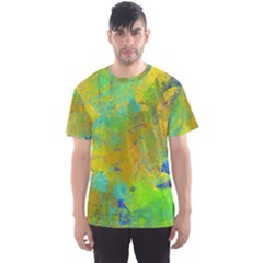 Abstract in Blue, Green, Copper, and Gold Men s Sport Mesh Tees
