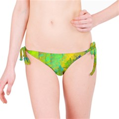 Abstract In Blue, Green, Copper, And Gold Bikini Bottoms