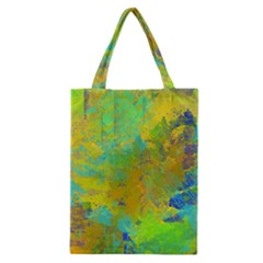Abstract In Blue, Green, Copper, And Gold Classic Tote Bags