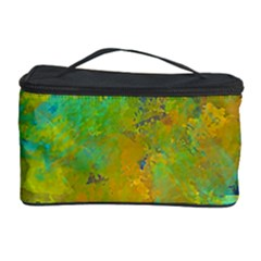 Abstract in Blue, Green, Copper, and Gold Cosmetic Storage Cases