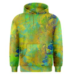 Abstract in Blue, Green, Copper, and Gold Men s Pullover Hoodies
