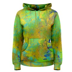 Abstract in Blue, Green, Copper, and Gold Women s Pullover Hoodies