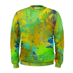 Abstract In Blue, Green, Copper, And Gold Men s Sweatshirts