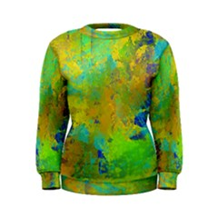 Abstract in Blue, Green, Copper, and Gold Women s Sweatshirts