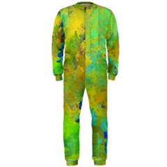 Abstract in Blue, Green, Copper, and Gold OnePiece Jumpsuit (Men)