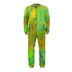 Abstract in Blue, Green, Copper, and Gold OnePiece Jumpsuit (Kids)