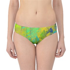 Abstract in Blue, Green, Copper, and Gold Hipster Bikini Bottoms