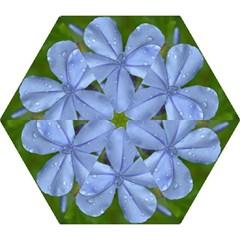 Blue Water Droplets Mini Folding Umbrellas