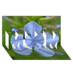 Blue Water Droplets MOM 3D Greeting Card (8x4)